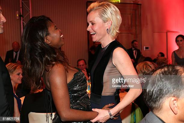 Motsi Mabuse and Dr Barbara Sturm during the Gala Spa Awards 2016 at Brenners ParkHotel Spa on April 2 2016 in BadenBaden Germany