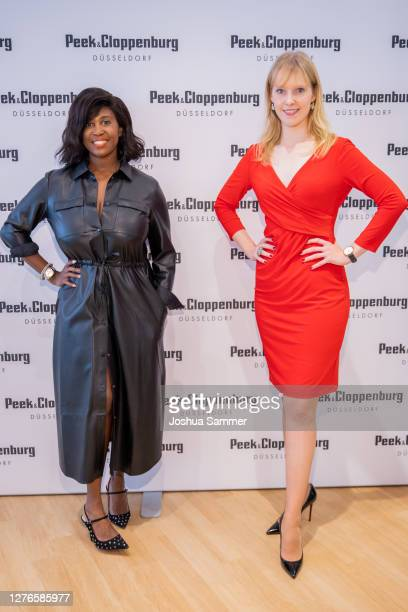 Motsi Mabuse and Jennifer Stoll attend the Store Opening on September 24, 2020 in Bocholt, Germany.