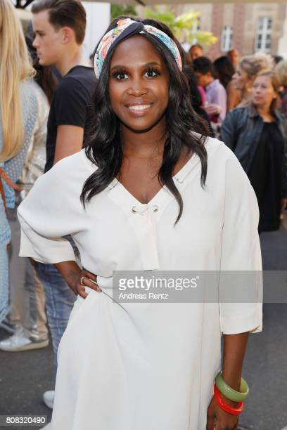 Motsi Mabuse attends the after show reception during the Riani Fashion Show Spring/Summer 2018 at Umspannwerk Kreuzberg on July 4 2017 in Berlin...