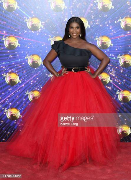 Motsi Mabuse attends the Strictly Come Dancing launch show red carpet arrivals at Television Centre on August 26 2019 in London England