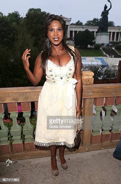 Motsi Mabuse during the opening of the oktoberfest 2016 at the 'Kaeferschaenke' beer tent at Theresienwiese on September 17 2016 in Munich Germany