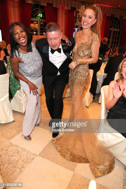 Motsi Mabuse, Joachim Llambi and Victoria Swarovski during the Gruner+Jahr Spa Awards at Brenners Park-Hotel & Spa on March 30, 2019 in Baden-Baden,...