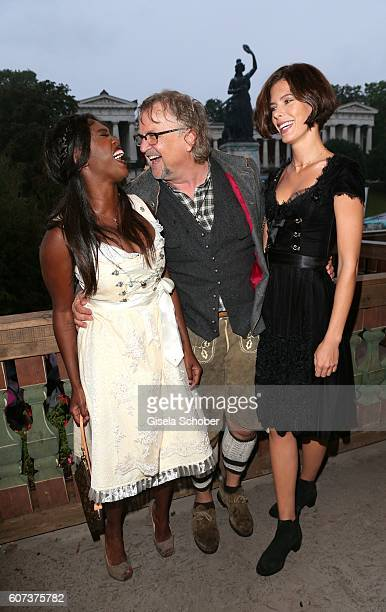Motsi Mabuse Martin Krug and his girlfriend Julia Trainer during the opening of the oktoberfest 2016 at the 'Kaeferschaenke' beer tent at...