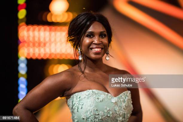 Motsi Mabuse poses after the semi final of the tenth season of the television competition 'Let's Dance' on June 2 2017 in Cologne Germany