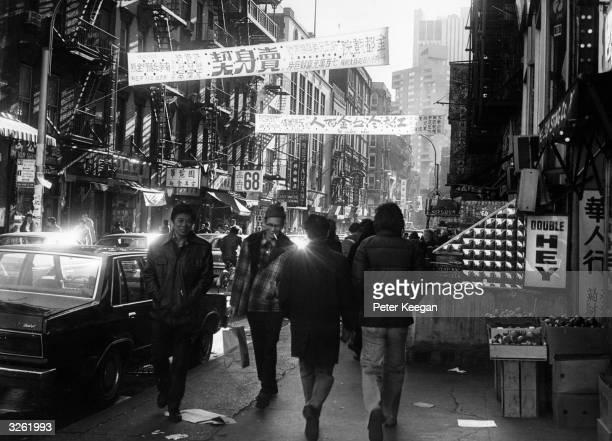 Mott Street a main thoroughfare in New York's Chinatown