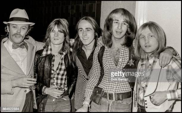 Mott The Hoople at Bayswater Ice Rink London 21st Septemebr 1975 LR Morgan Fisher Nigel Benjamin Ray Major Pete Overend Watts Dale Buffin Griffin