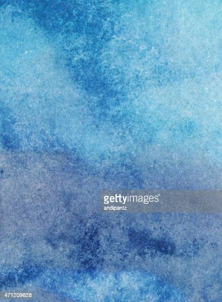 Mottled blue tones hand painted with watercolors