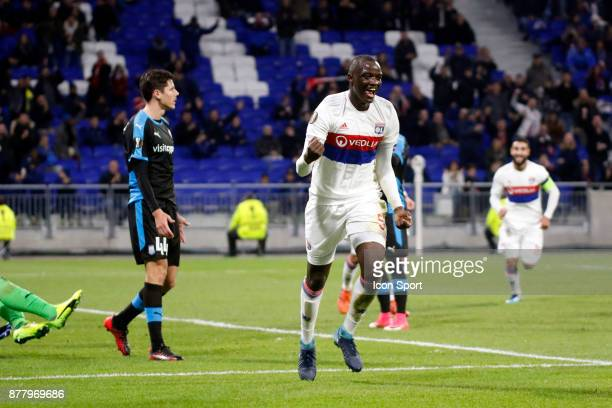Mouctar Diakhaby of Lyon during europa league match between Olympique Lyonnais and Apollon Limassol at Parc Olympique on November 23 2017 in Lyon...