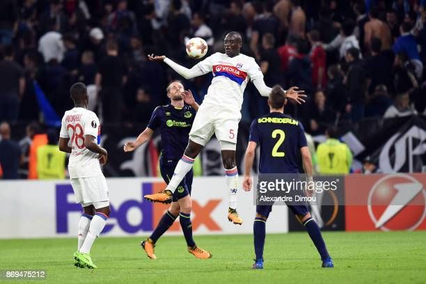 Mouctar Diakhaby of Lyon during the Europa League match between Lyon and Everton at Groupama Stadium on November 2 2017 in Lyon France