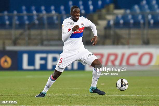Mouctar Diakhaby of Lyon during the french League Cup match Round of 16 between Montpellier and Lyon on December 13 2017 in Montpellier France