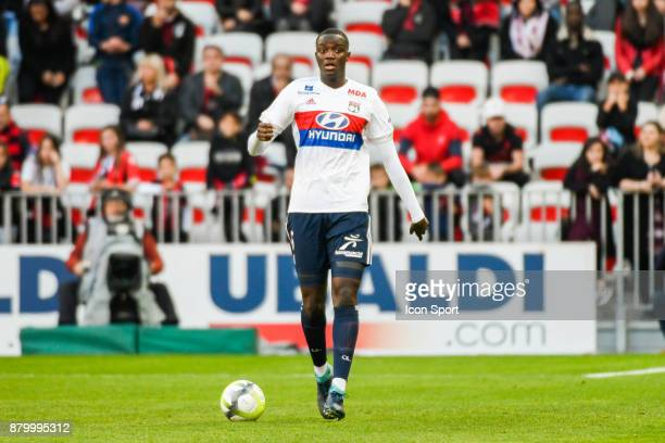 Mouctar Diakhaby of Lyon during the Ligue 1 match between OGC Nice and Olympique Lyonnais at Allianz Riviera on November 26 2017 in Nice
