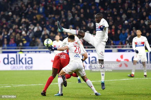 Mouctar Diakhaby of Lyon during the Ligue 1 match between Olympique Lyonnais and Montpellier Herault SC at Parc Olympique on November 19 2017 in Lyon