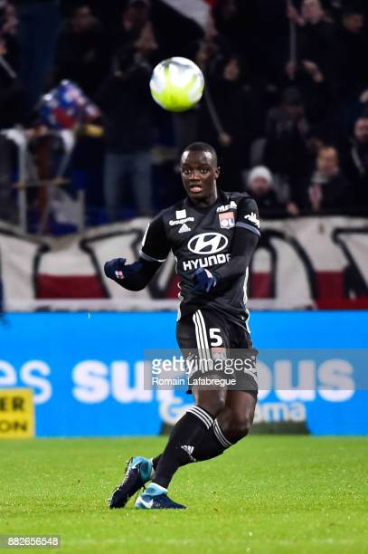 Mouctar Diakhaby of Lyon during the Ligue 1 match between Olympique Lyonnais and Lille OSC at Parc Olympique on November 29 2017 in Lyon