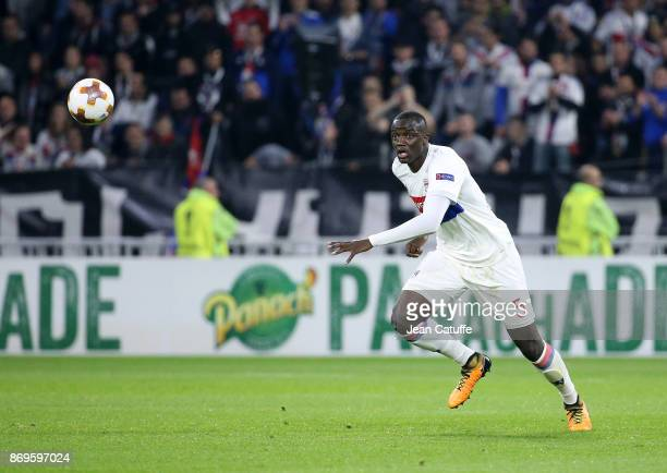 Mouctar Diakhaby of Lyon during the UEFA Europa League group E match between Olympique Lyonnais and Everton FC at Groupama Stadium on November 2 2017...