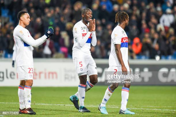 Mouctar Diakhaby of Lyon looks dejected during the french League Cup match Round of 16 between Montpellier and Lyon on December 13 2017 in...