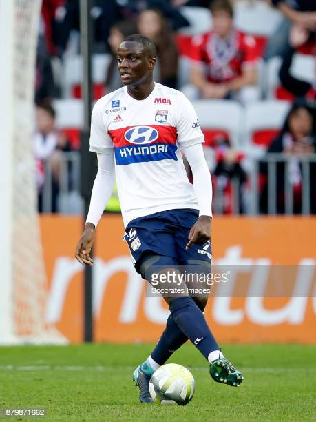 Mouctar Diakhaby of Olympique Lyon during the French League 1 match between Nice v Olympique Lyon at the Allianz Riviera on November 26 2017 in Nice...