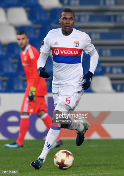 Mouctar Diakhaby of Olympique Lyon in action during the UEFA Europa League group E match between Atalanta and Olympique Lyon at Mapei Stadium Citta'...