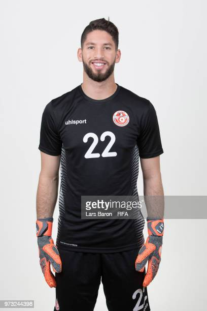 Mouez Hassen of Tunisia poses during the official FIFA World Cup 2018 portrait session on June 13 2018 in Moscow Russia
