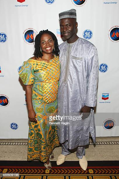Mouhamadu Gueye and AAI President CEO Amini Kajunju attend the 30th Annual Awards Gala hosted by The AfricaAmerica Institute at Gotham Hall on...