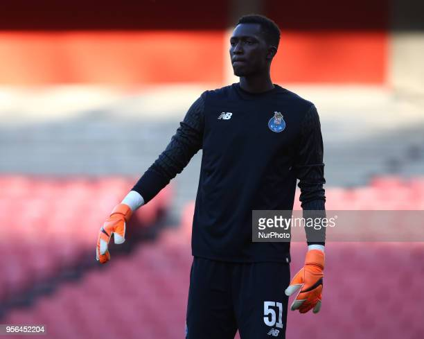 Mouhamed Mbaye of Porto during Premier League International Cup Final match between Arsenal Under 23 against Porto FC at Emirates stadium London...