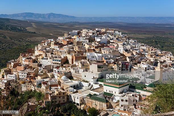 moulay idriss in morocco - marco cristofori fotografías e imágenes de stock