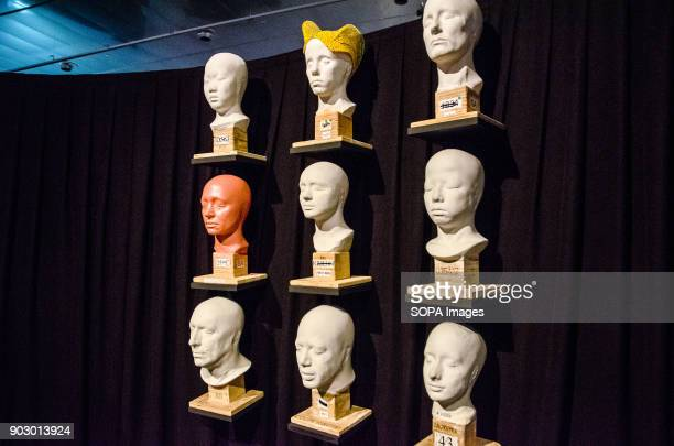 Moulds of the face of the actors involved in the performances of the Cirque du Soleil are exposed in BarcelonaThe Barcelona design HUB Center will...
