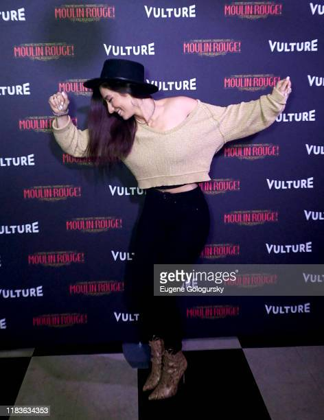 Moulin Rouge cast member attends the Vulture And Moulin Rouge The Musical Present A Spectacular Spectacular Moulin Rouge The Musical Album Release on...