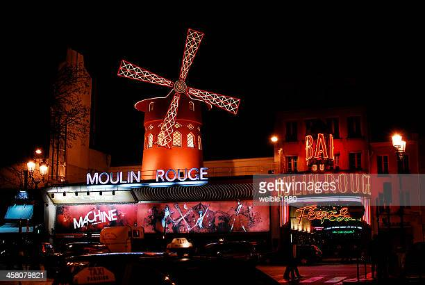 moulin rouge in paris - infrared lamp stock photos and pictures