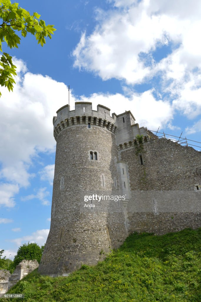 Moulineaux (Normandy, northern France), May 2015: medieval castle 'Chateau de Robert le Diable' The castle was built between the XIth and the XIIth century.
