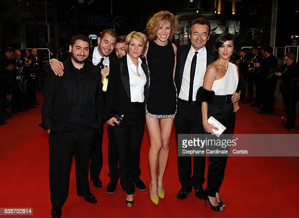 Mouloud Achour Laurent WeilYann Barthes Ariane Massenet Michel Denisot and Elise Chassaing at the premiere of 'Black Heaven' during the 63rd Cannes...