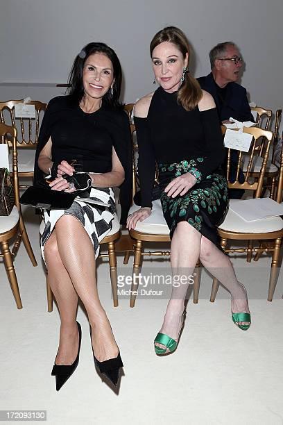Mouna Ayoub and Becca Cason Thrash attends the Giambattista Valli show as part of Paris Fashion Week HauteCouture Fall/Winter 20132014 on July 1 2013...