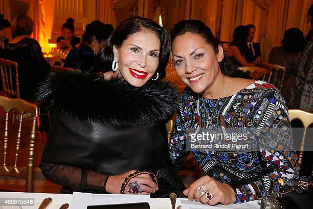 Mouna Ayoub and Princesse Hermine de Clermont Tonnerre attend The Children for Peace Gala at Cercle Interallie on December 12 2014 in Paris France