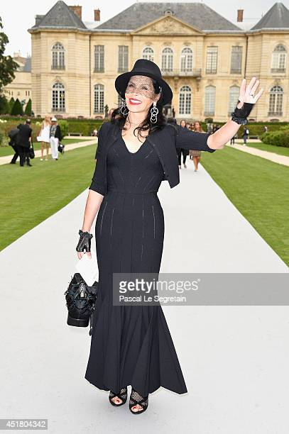 Mouna Ayoub attends the Christian Dior show as part of Paris Fashion Week Haute Couture Fall/Winter 20142015 on July 7 2014 in Paris France