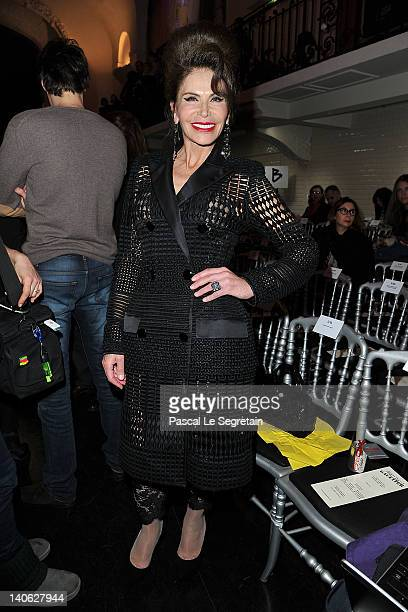 Mouna Ayoub attends the JeanPaul Gaultier ReadyToWear Fall/Winter 2012 show as part of Paris Fashion Week on March 3 2012 in Paris France
