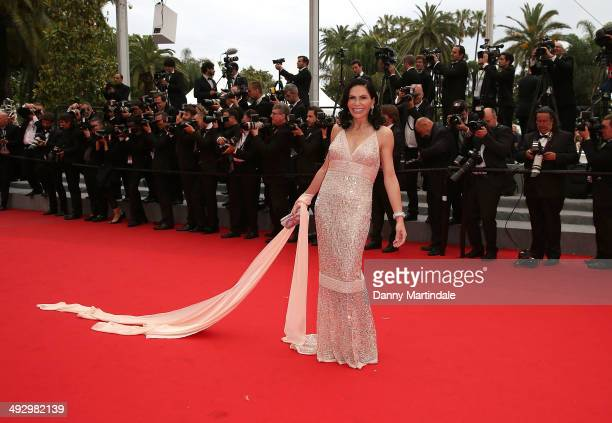 Mouna Ayoub attends the 'Jimmy's Hall' Premiere at the 67th Annual Cannes Film Festival on May 22 2014 in Cannes France