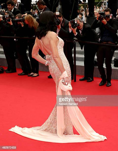 Mouna Ayoub attends the 'Jimmy's Hall' premiere during the 67th Annual Cannes Film Festival on May 22 2014 in Cannes France