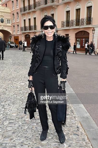Mouna Ayoub attends the Louis Vuitton Cruise Line Show 2015 at Palais Princier on May 17 2014 in MonteCarlo Monaco
