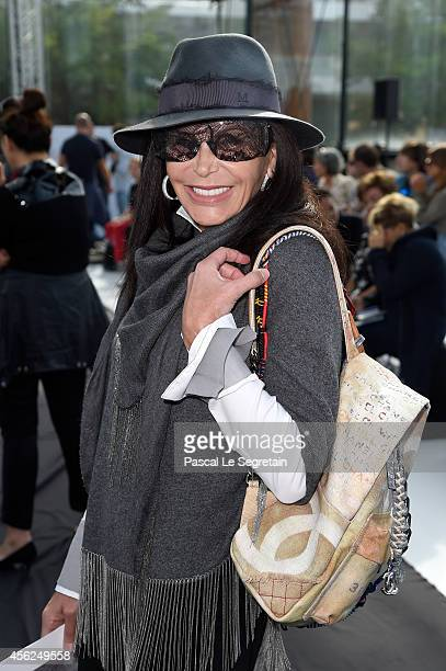 Mouna Ayoub attends the Maxime Simoens show as part of the Paris Fashion Week Womenswear Spring/Summer 2015 on September 28 2014 in Paris France