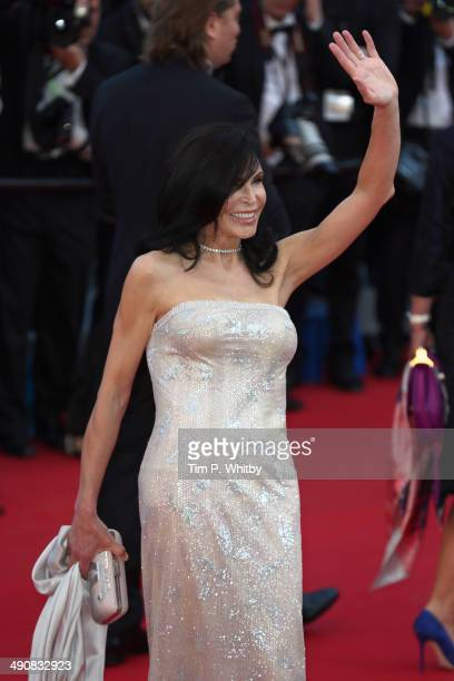 Mouna Ayoub attends the 'Mr Turner' premiere during the 67th Annual Cannes Film Festival on May 15 2014 in Cannes France