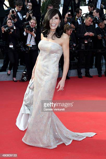 Mouna Ayoub attends the 'MrTurner' Premiere at the 67th Annual Cannes Film Festival on May 15 2014 in Cannes France