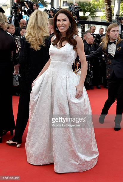 Mouna Ayoub attends the opening ceremony and premiere of 'La Tete Haute' during the 68th annual Cannes Film Festival on May 13 2015 in Cannes France