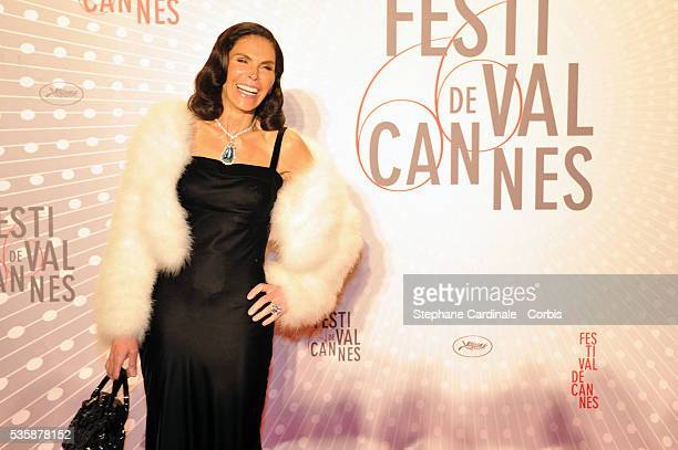 Mouna Ayoub attends the 'Palme D'Or Winners dinner' during the 66th Cannes International Film Festival