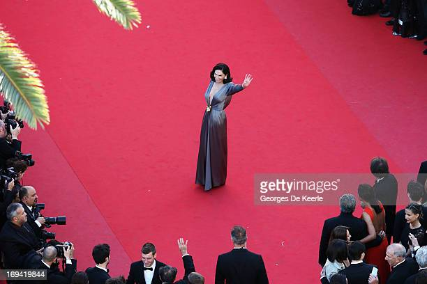 Mouna Ayoub attends the Premiere of 'The Immigrant' at The 66th Annual Cannes Film Festival at Palais des Festivals on May 24 2013 in Cannes France