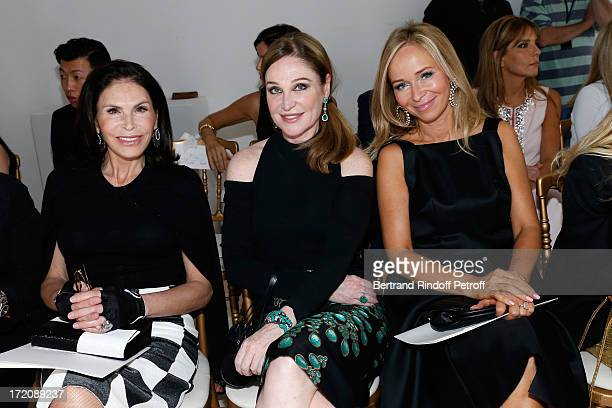 Mouna Ayoub Becca Cason Thrash and and Joanna Przetakiewicz attend the Giambattista Valli show as part of Paris Fashion Week HauteCouture Fall/Winter...