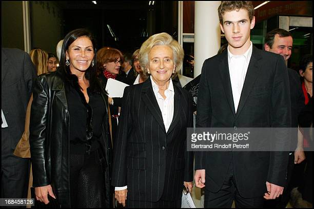 Mouna Ayoub Bernadette Chirac and Alexandre Desseigne at Inauguration Of Maison De Solenn A House For Teenagers Sponsored By Bernadette Chirac At...