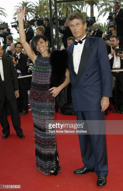 Mouna Ayoub Dominique Dessaigne during 2003 Cannes Film Festival Closing Ceremony Arrivals at Palais des Festivals in Cannes France