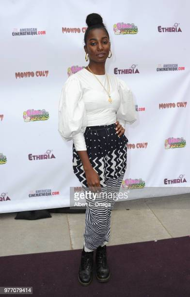Mouna Traore arrives for the 2018 Etheria Film Night held at the Egyptian Theatre on June 16 2018 in Hollywood California