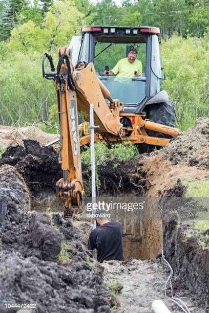 mound septic system installation - poisonous stock pictures, royalty-free photos & images