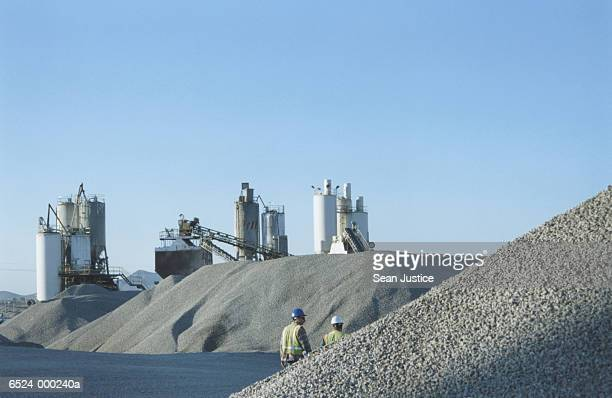 mounds of gravel - gravel stock pictures, royalty-free photos & images