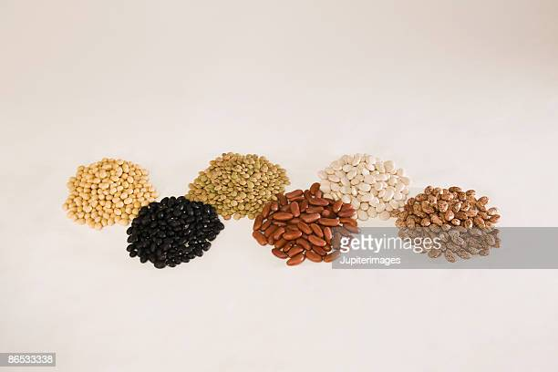 Mounds of seeds and nuts